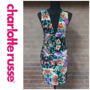 Charlotte Russe | NWT Sheer Floral Bodycon Dress